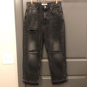 Free people distressed black jeans